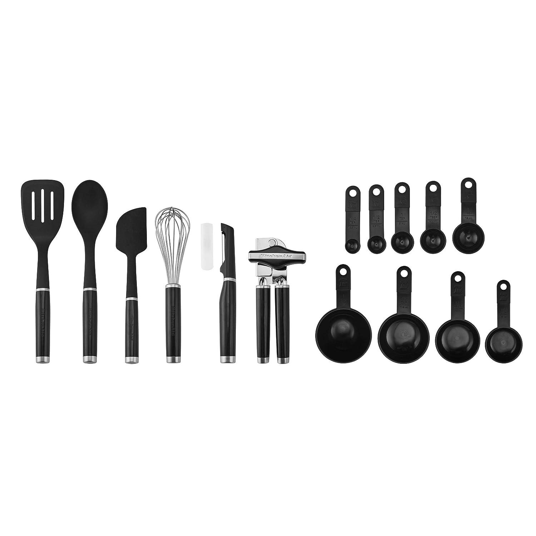 KitchenAid KE447BXOBA Classic Tool and Gadget Set 15-Piece Black