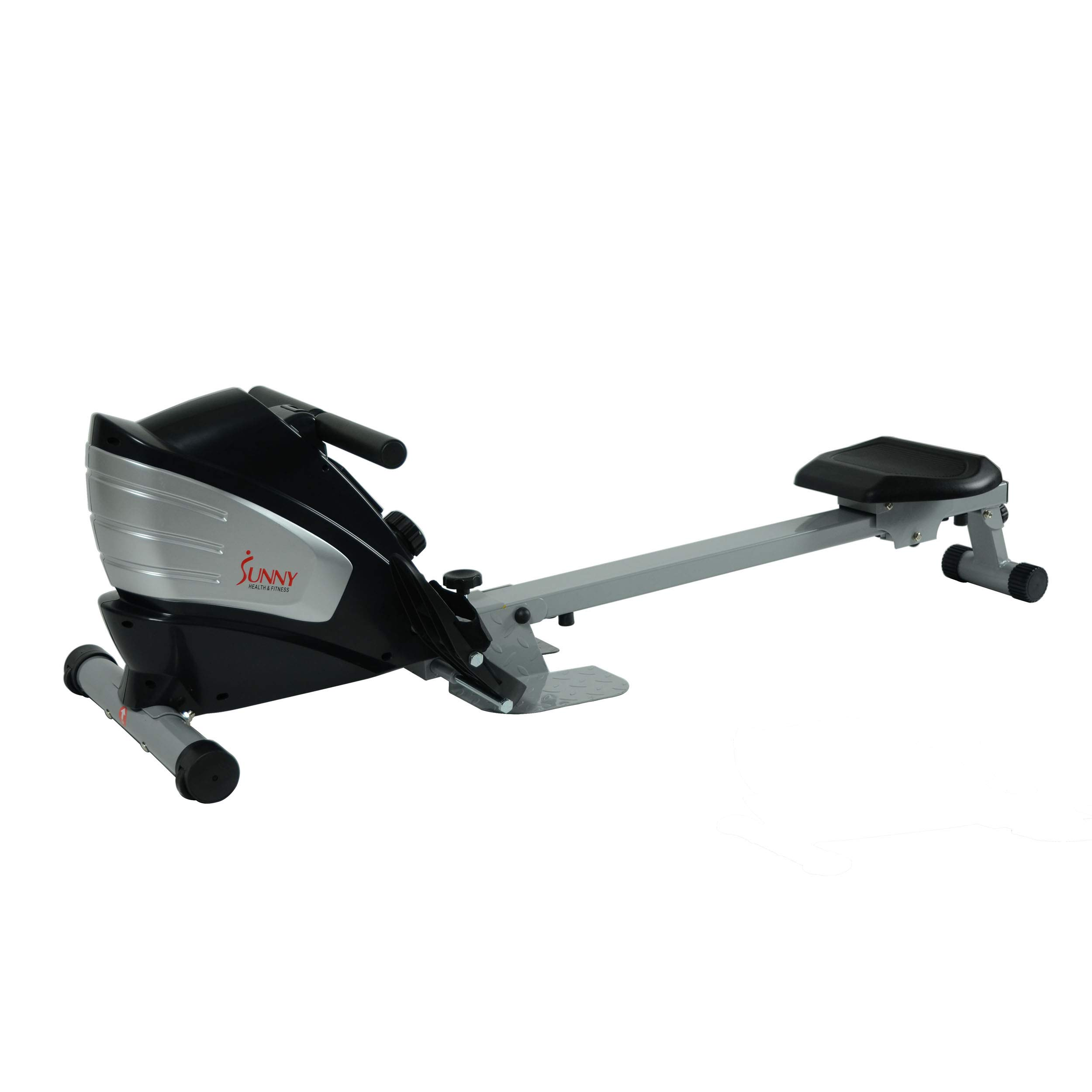 Sunny Health & Fitness Dual Function Magnetic Rowing Machine w/ Digital Monitor, Multi-Exercise Step Plates and Foldable -  SF-RW5622 by Sunny Health & Fitness (Image #4)