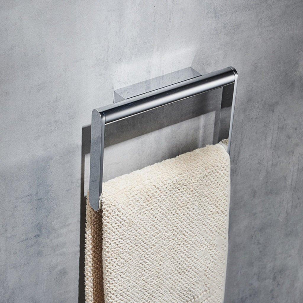 タオルリング モダンシンプリシティロングシェイプメッキ純銅タオルリング壁掛けバスルームタオルリング耐錆性超耐荷重 B07BWFZHNQ