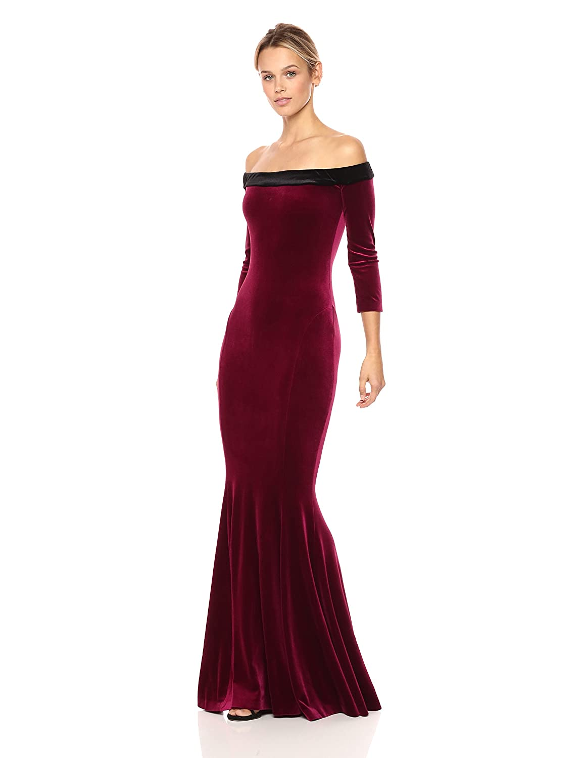 9b7c715bcc Norma Kamali Women s Off Shoulder Fishtail Gown at Amazon Women s Clothing  store