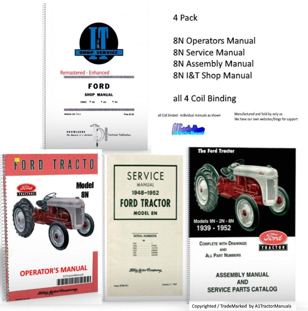 Ford 8n Maint Repair Manual Set 4 Pack Industrial Cooling System Scientific