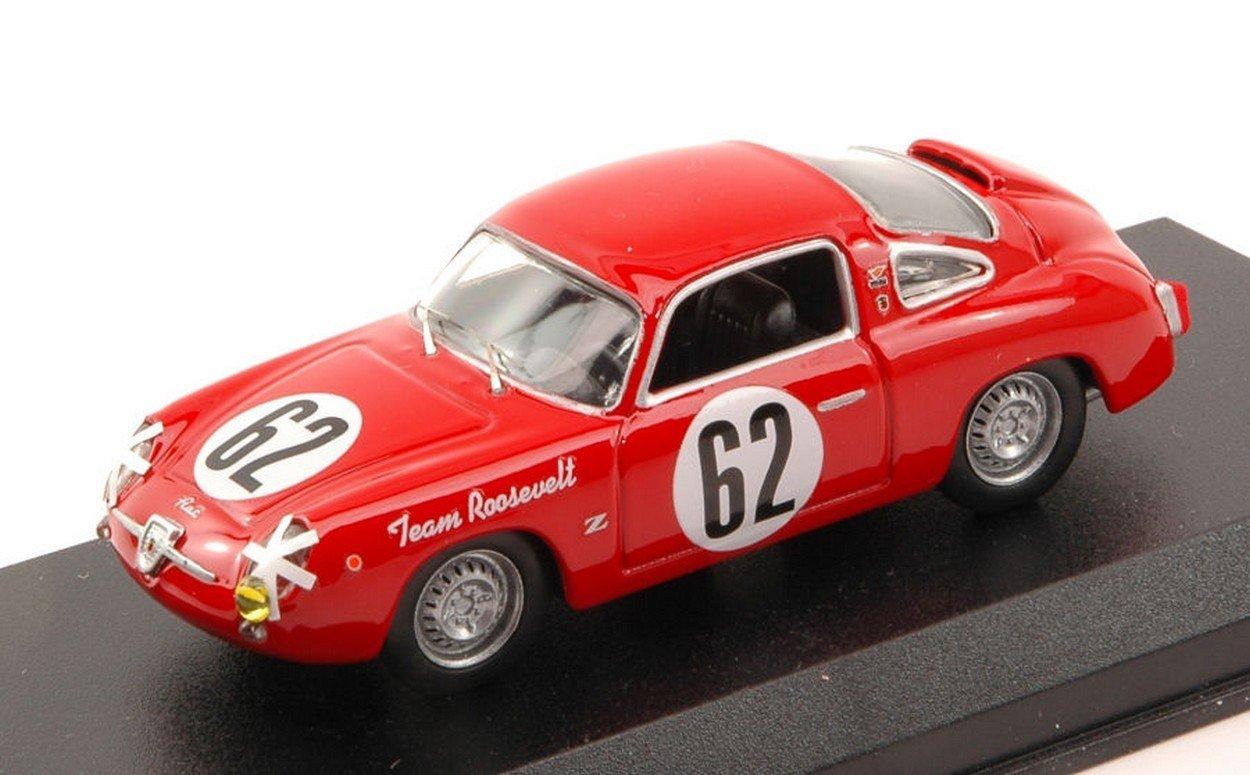 Best Model BT9617 Fiat 750 Abarth N.62 12 H Sebring 1959 CUSSINI-CATTINI 1 43