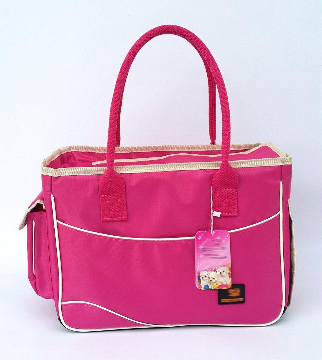 xueyan bolsa de transporte para mascotas se puede doblar y se puede doblar, pequeño, rosado