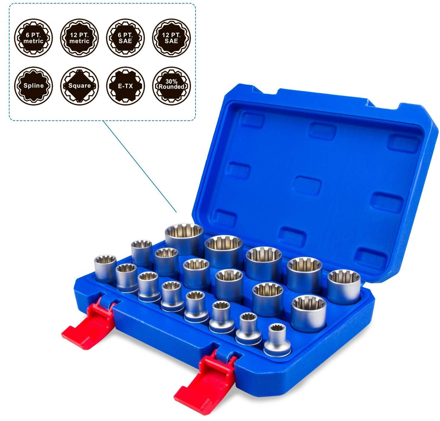 Juego de llaves de vaso vasos insertables Gear Lock 1/2