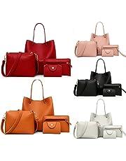 Muium Borse a Tracolla Set Borse a Mano Set da Donna Casual Borse a Spalla Set Elegante Tote Bag Set Messenger Bag per Viaggio