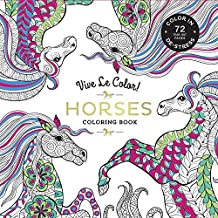 Vive Le Color! Horses (Adult Coloring Book): Color In; De-stress (72 Tear-out Pages)