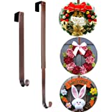 AnCintre Wreath Hanger, Adjustable Length from 15 to 25 Inch Wreath Hanger for Front Door Heavy Duty with 20LB Upgrade Wreath