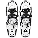 HJKLL Traction Ice Cleats, Ice Snow Grips Light Weight Snowshoes for Women Men Youth Kids, Lightweight Aluminum Alloy Terrain
