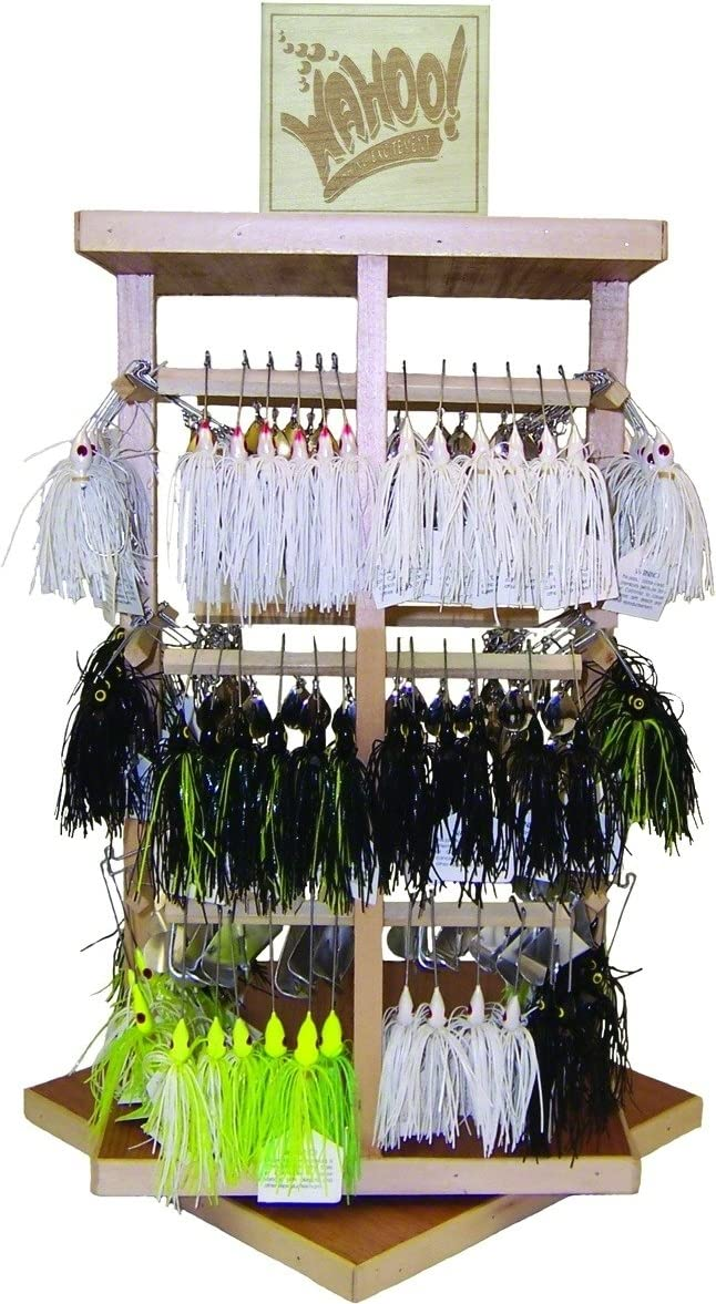 Wahoo wah-pst144-a Promo Spin Bait Asst 144pc W /ツリー