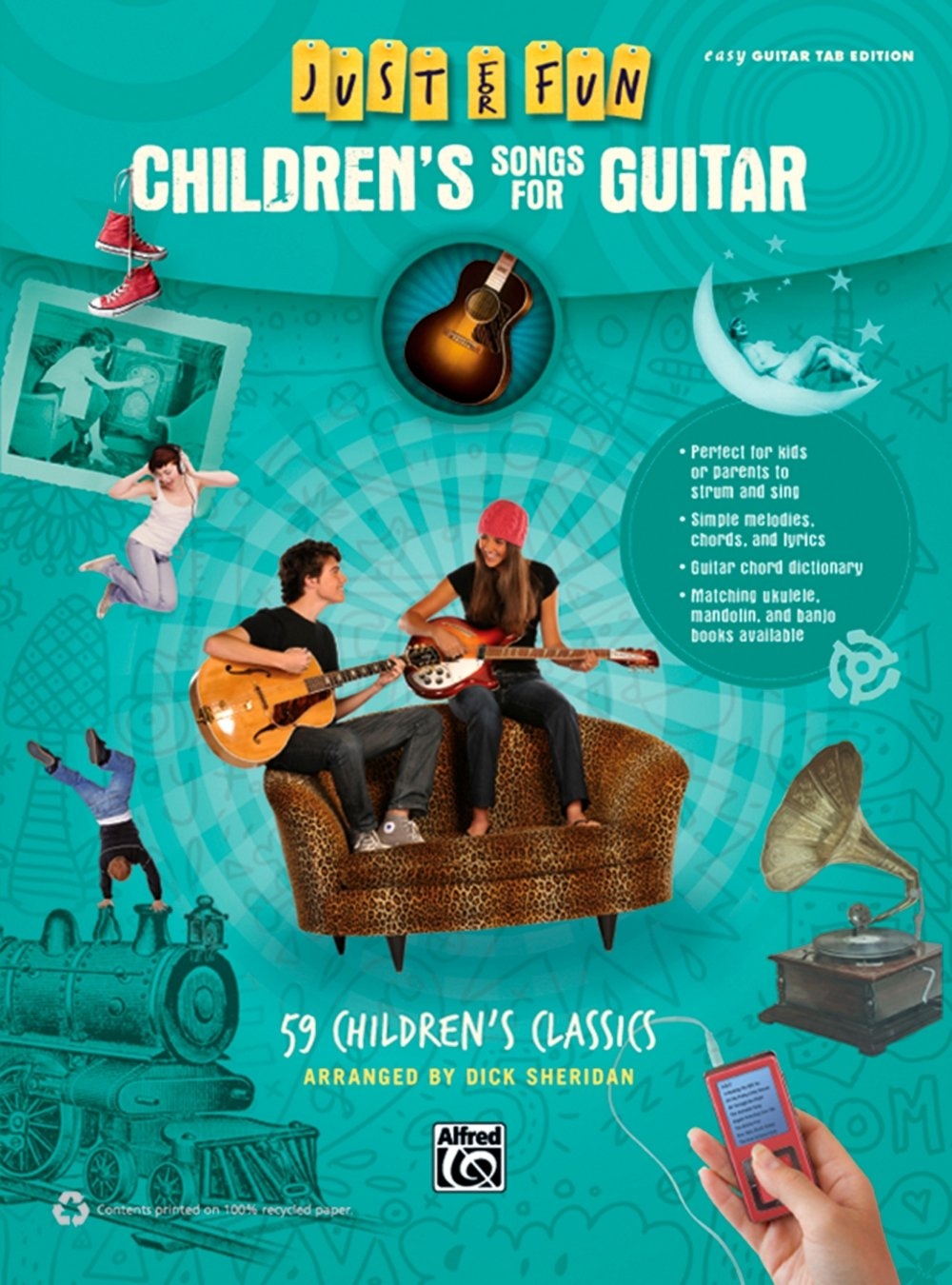 Amazon Alfred Just For Fun Childrens Songs For Guitar Easy