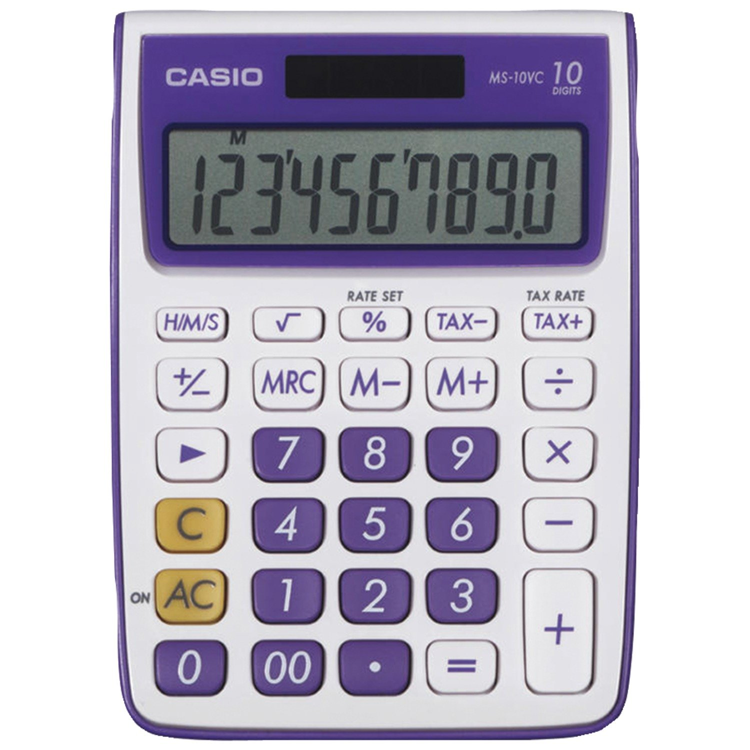 com casio ms 10vc standard function calculator green  com casio ms 10vc standard function calculator green electronics