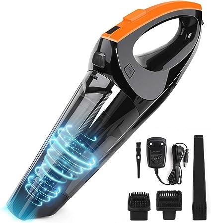 VACPOWER Aspiradora de Mano,6500pA Aspirador de Mano Sin Cable con BateríA Recargable de 2500mAh y Filtro Hepa Mejorado para el Hogar y el AutomóVil: Amazon.es: Hogar