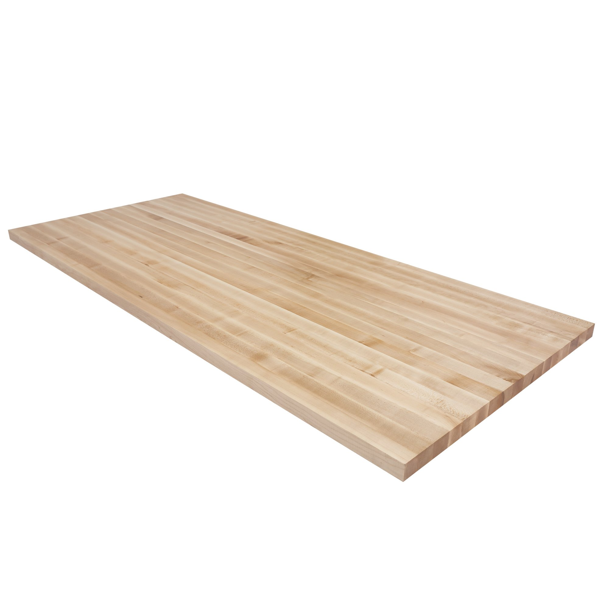 Wood Welded Maple Butcher Block Island Top (84'' x 30'' x 1-1/2'')