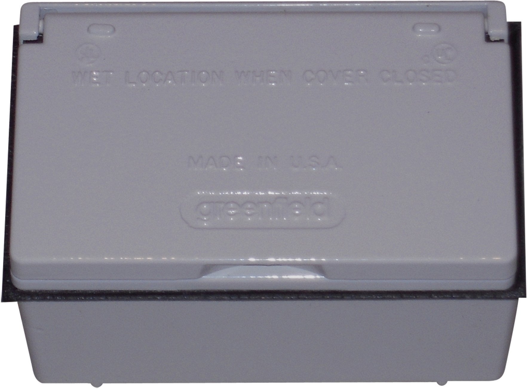Made in USA Weatherproof Electrical Outlet Box, Box Cover & GFCI Outlet Kit Gray
