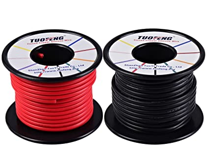 TUOFENG 14 AWG Draht, weich und flexibel Silikon isolierte Draht 20 ...