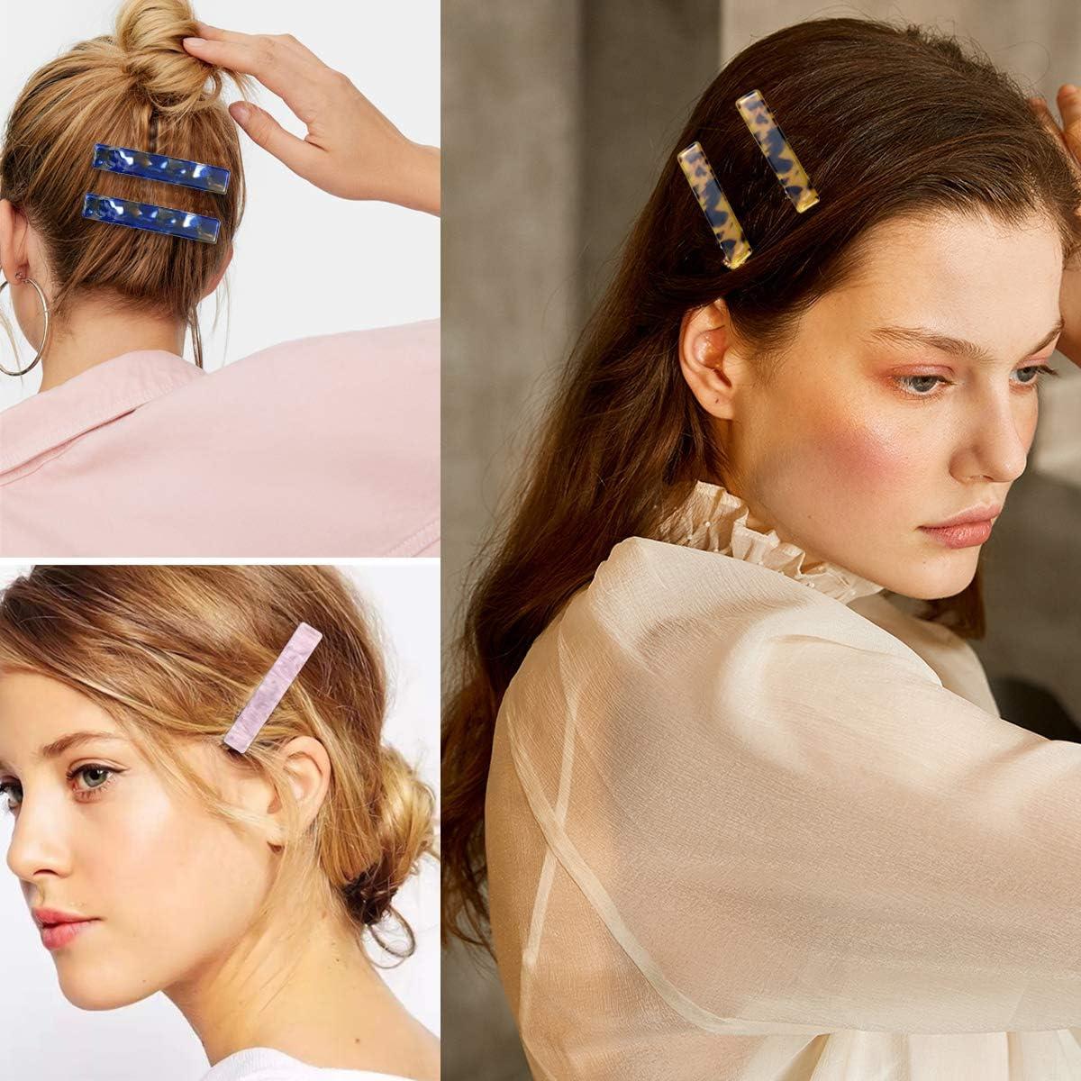 Women/'s Hair Clips Duckbill Clip Acid Jelly Hairpin Slide Hair Accessories