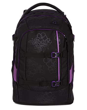 95d780d06aa75 Satch Schulrucksack-Set 2-TLG Pack Purple Hibiscus Schwarz  Amazon ...