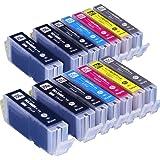 インクのチップスオリジナル製品 キヤノン用 BCI-351XL+350XL/6MPx2+BCI-350XLPGBKx2 6色が2セットと黒が2本の14本セット 互換インクカートリッジ フラストレーションフリーパッケージ FFP