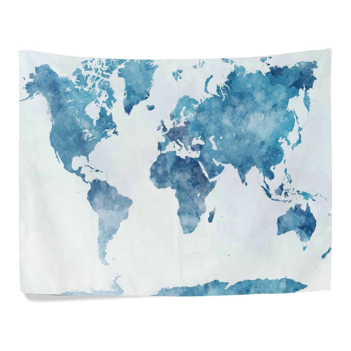 Amazon artpanda blue watercolor world map tapestry abstract amazon artpanda blue watercolor world map tapestry abstract splatter painting wall hanging art for living room bedroom dorm decor 60 x 40 inch home gumiabroncs Image collections
