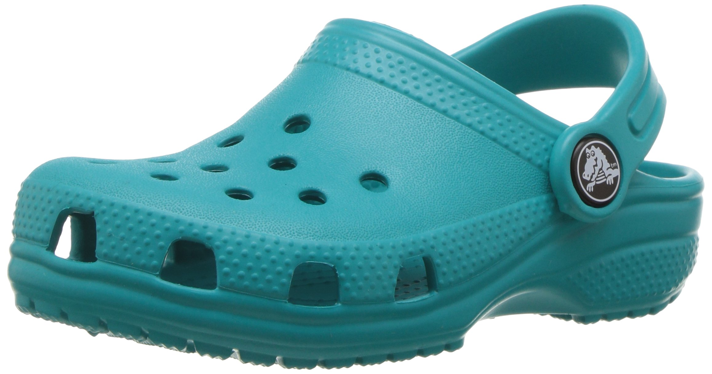 Crocs Kids' Classic Clog, Turquoise, 5 M US Toddler