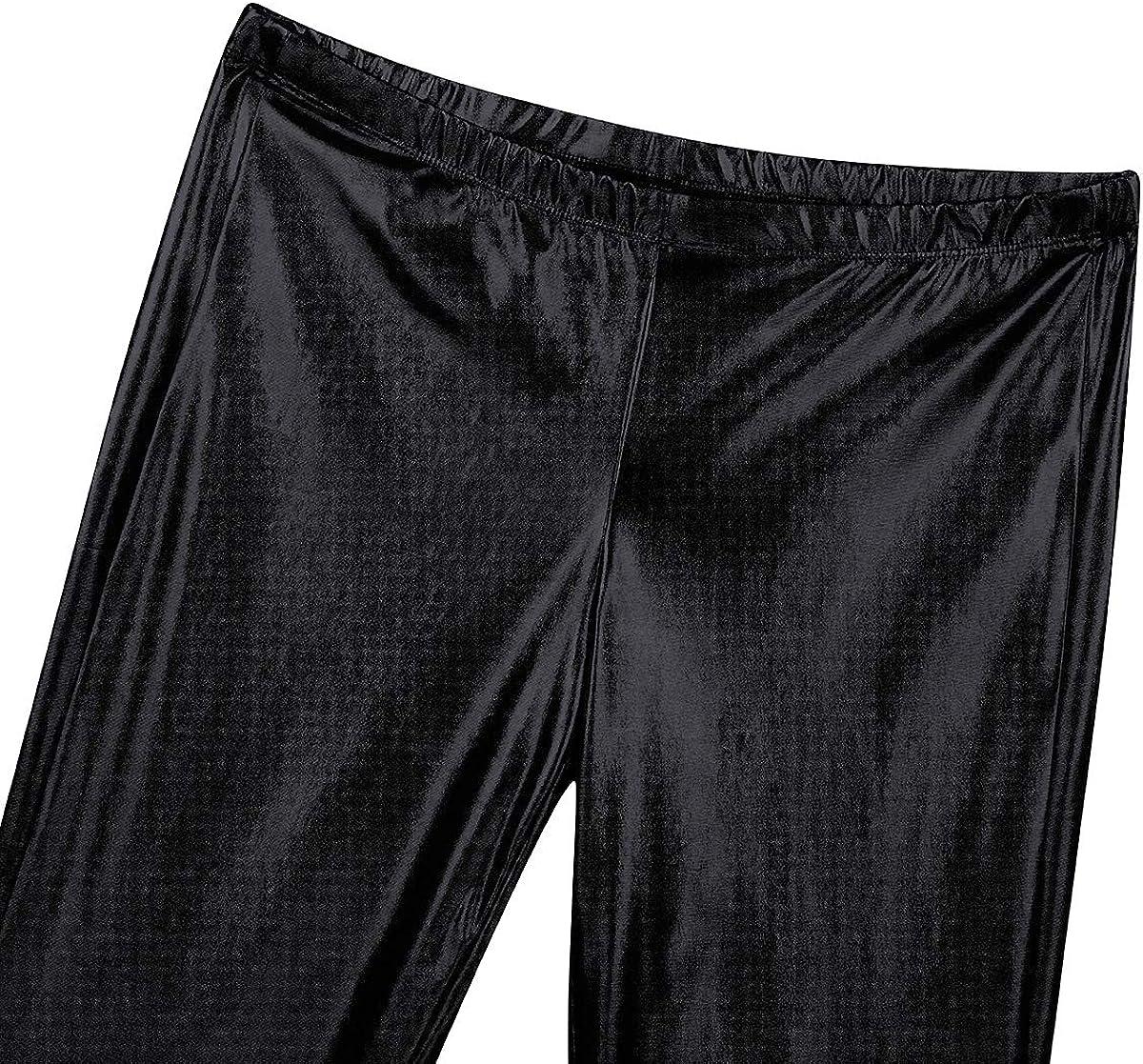 inlzdz Pantal/ón Retro de Los A/ños 70 para Hombre Brillante Pantalones Largos de Danza Disfraz Disco Campana Met/álico Ropa Esc/énica