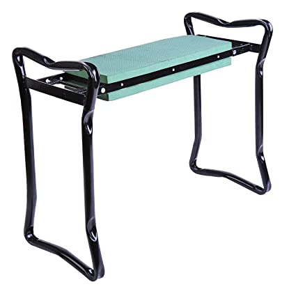 Terrific Outsunny Folding Garden Kneeler Kneeling Bench Chair Green Creativecarmelina Interior Chair Design Creativecarmelinacom