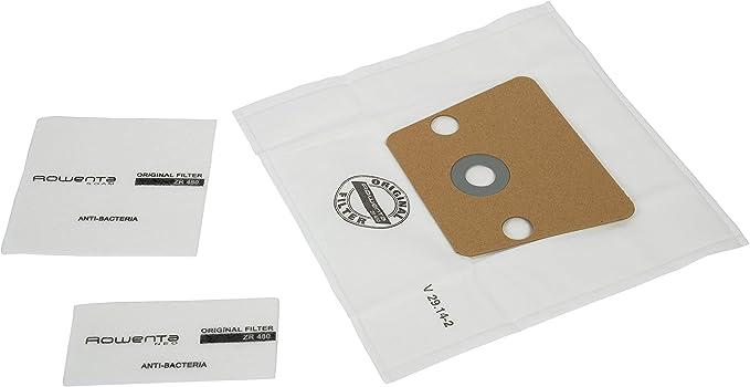 Rowenta ZR480 - 6 Bolsas de Papel + 2 Microfiltros Antibacteriano para Aspiradora ZR480: Amazon.es: Hogar