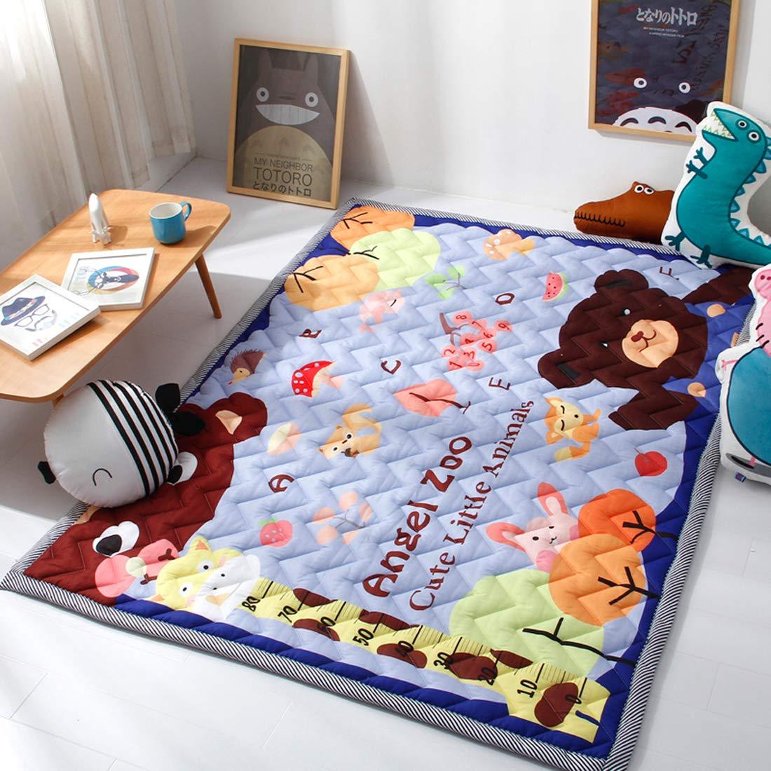 DorkasDE Baby Krabbelmatte Krabbeldecken Spielmatte Kinderteppich Kinderteppich Kinderteppich Rutschfeste Matte 145  195 cm B07MPT4LP9 Teppiche & Lufer 76a591
