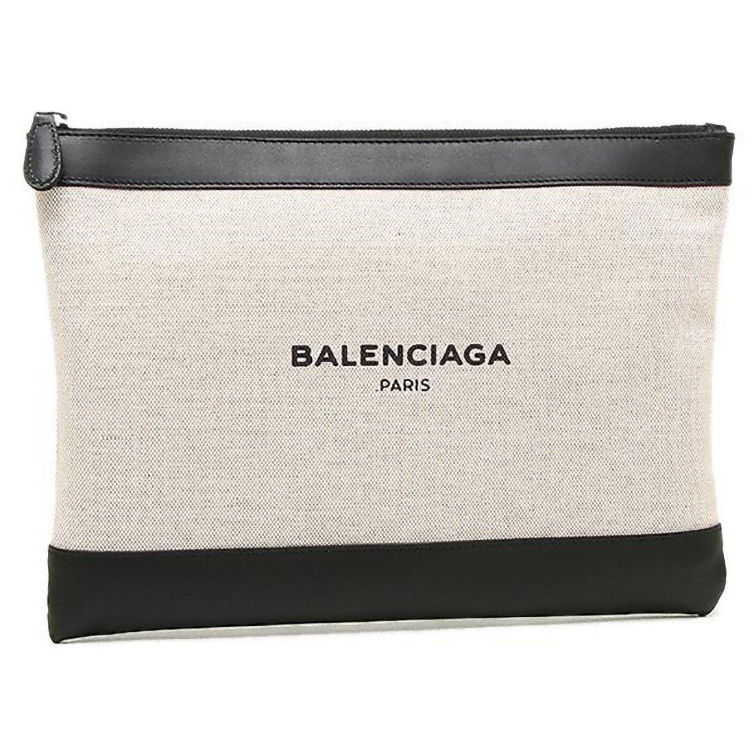 (バレンシアガ) BALENCIAGA バレンシアガ バッグ BALENCIAGA 420407 AQ37N 1080 NAVY CLIP M クラッチバッグ NATUREL/NOIR [並行輸入品] B01LA8KY88