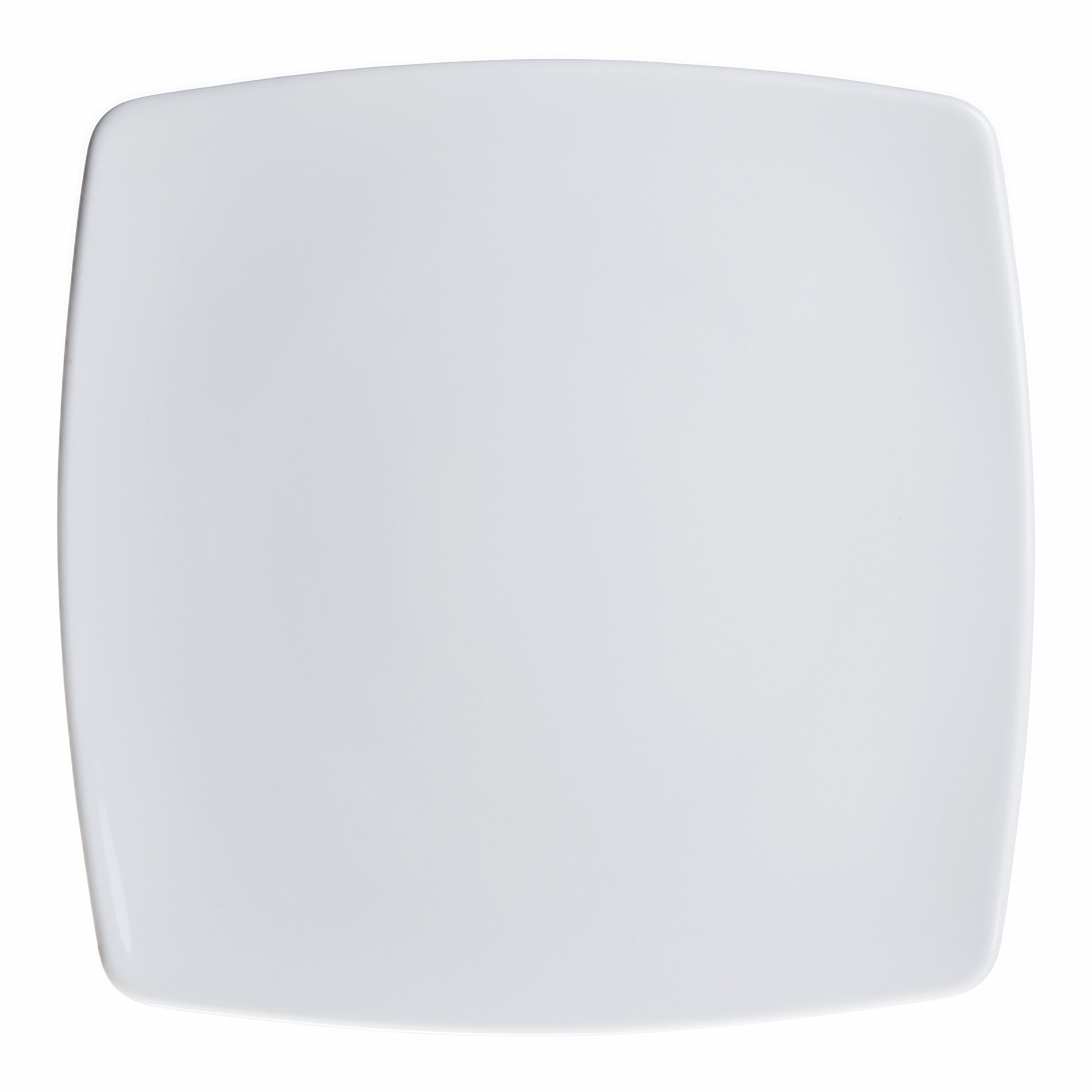 Smart And Cozy 12-Piece Square Dinner/Serving Plates Set, White Porcelain, Restaurant&Hotel Quality, size 10.2''