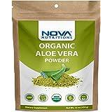Nova Nutritions Certified Organic Aloe Vera Leaf Powder 16 OZ (454 gm) - Also Called Aloe Barbadensis