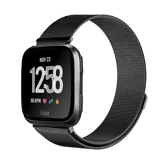 1d2061f9a57c LEHOO para Fitbit Versa Smartwatch Correa Milan Correa de Metal Magnético  Transpirable Pulsera Ajustable Reemplazo Band