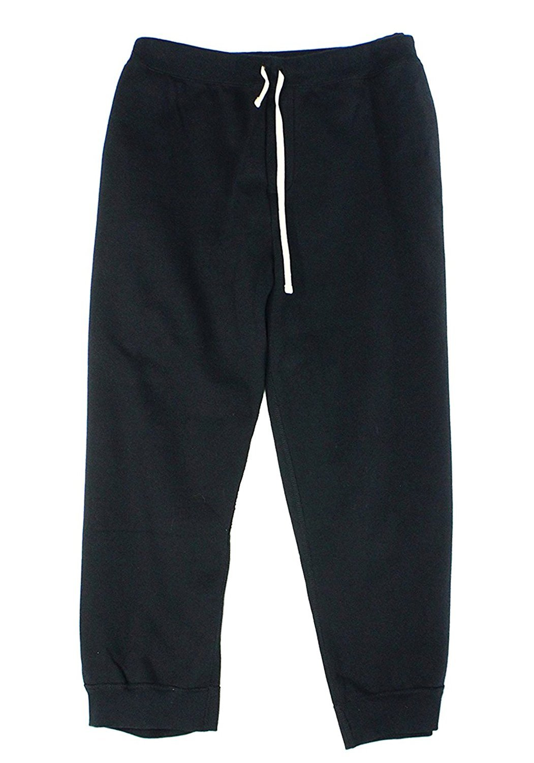 Polo Ralph Lauren Men's Big & Tall Fleece Sweatpants Pants (XLT, Black)