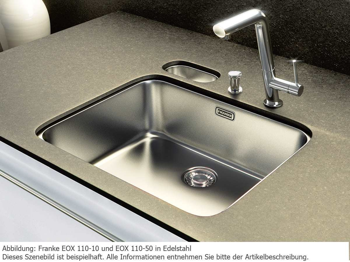 Franke Epos EOX 110-50 Edelstahl glatt Spülbecken Küchenspüle ...
