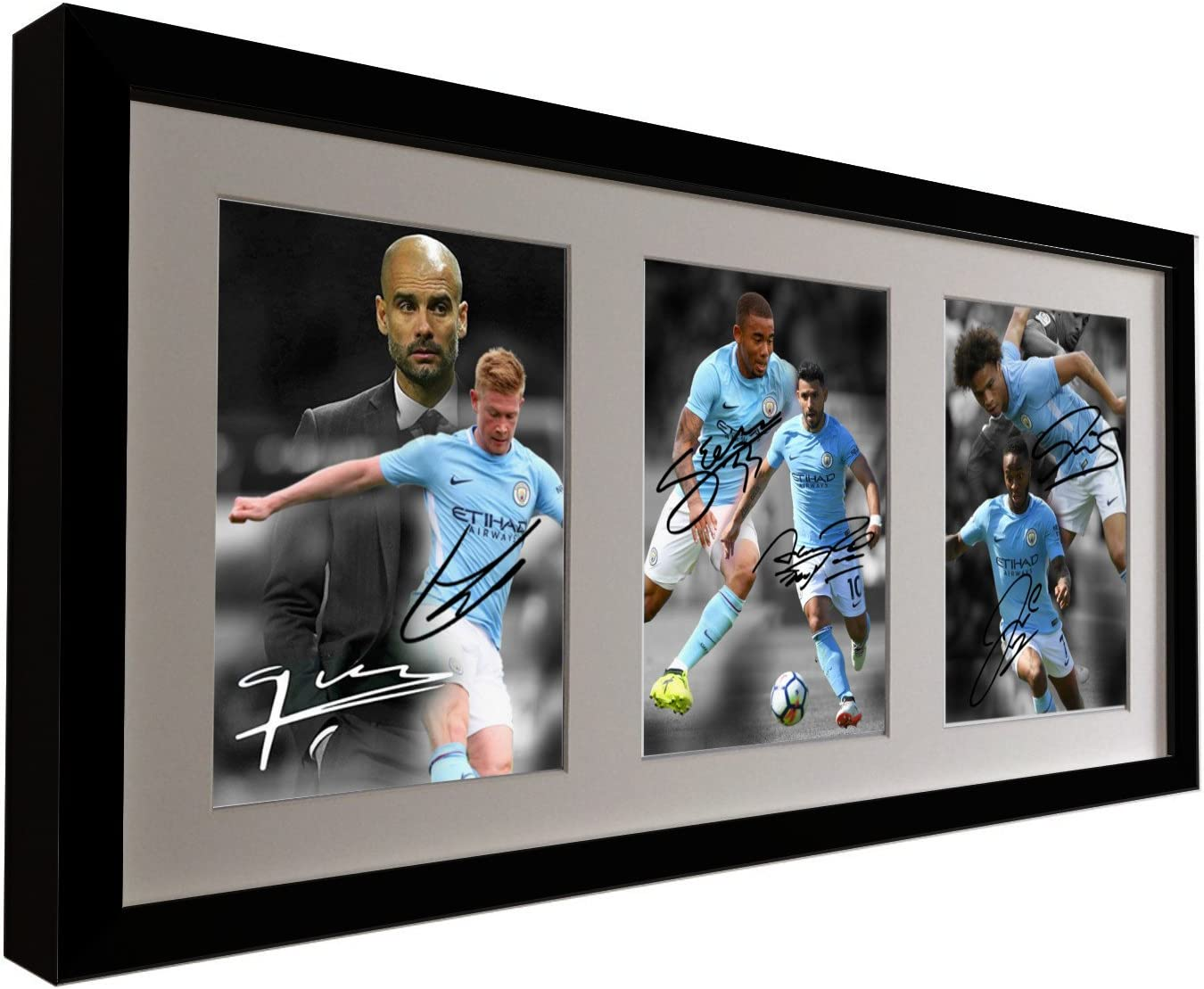 Signed Sergio Aguero Manchester City Autographed Photograph Picture Gift A4
