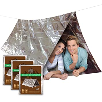 3 PACK Emergency Shelter Tube Tents | Must-Have Outdoor Safety u0026 Survival Gear for  sc 1 st  Amazon.com & Amazon.com: 3 PACK Emergency Shelter Tube Tents | Must-Have ...