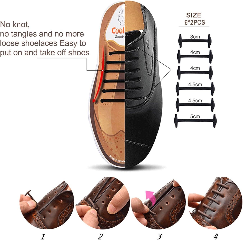 Joyshare sin corbata Cordones de zapatos para adultos cordones de ...