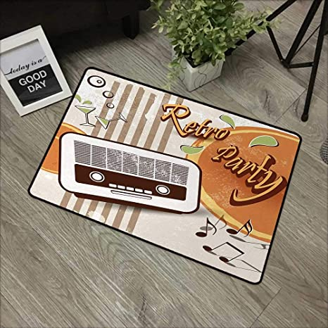 Amazon com: pad W31 x L47 INCH 70s Party, Retro Party Themed