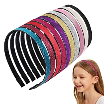 Glitter headbands   girls hair accessories socking filler Alice bands hairbands sparkly head band