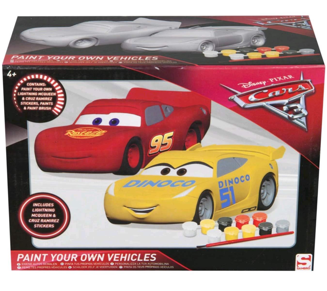 Sambro - Cars Figuras De Escayola para Pintar, Color Rojo (DSC8-4433) MLP4-4341