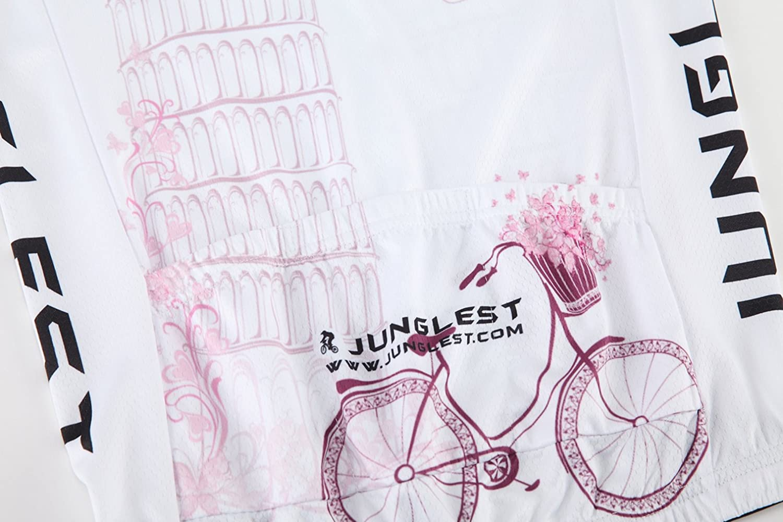 JUNGLEST Maillot de Cyclisme Femme Manches Longues Jersey N255 S~5XL,Option:Cuissard,3D Coussin