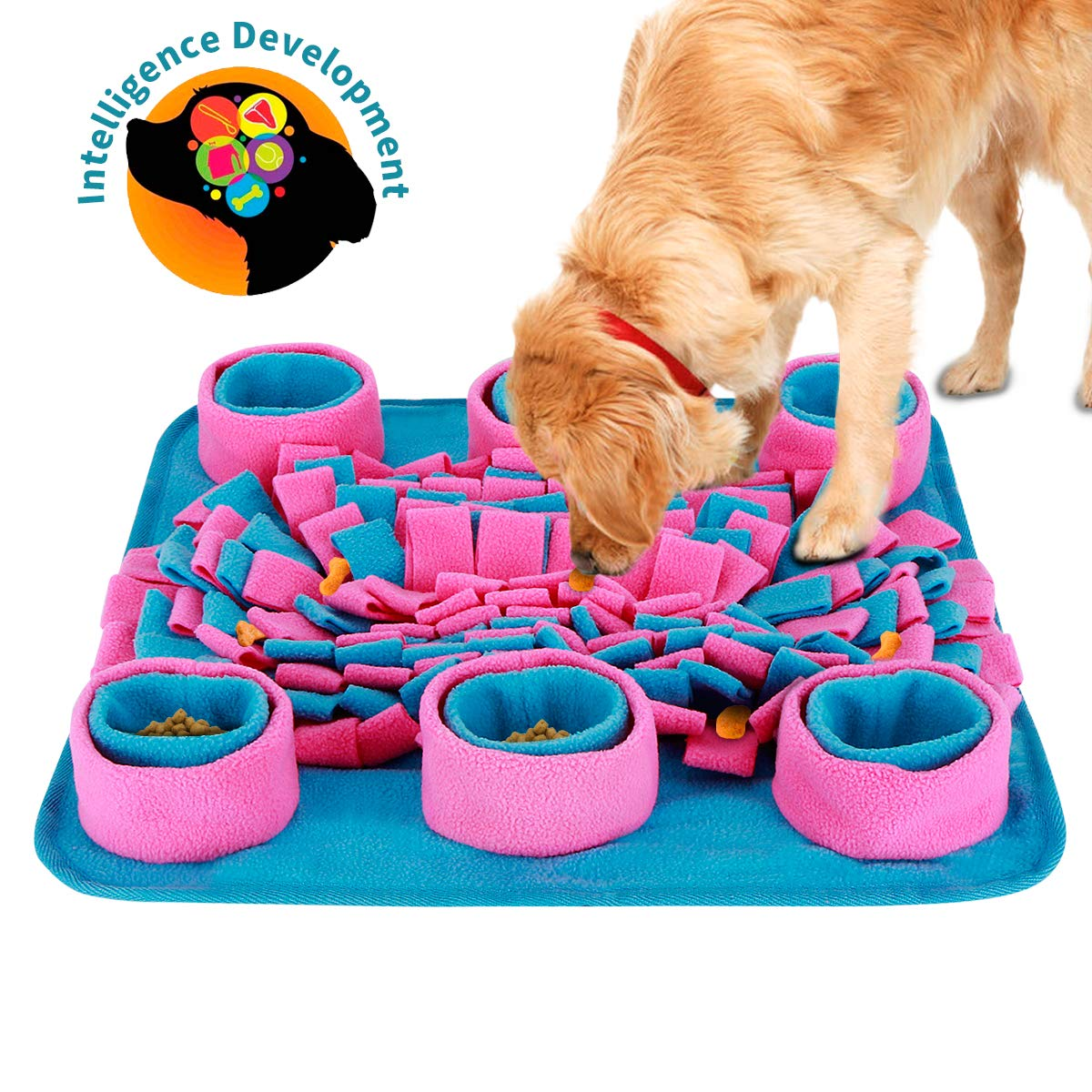 Snuffle Mat for Dogs, Dogs Slow Feeding Training, Encourages Natural Foraging Skills, Pet Play Puppy Interactive Puzzle Toys, Durable and Machine Washable, Perfect for Any Breed by LC-dolida