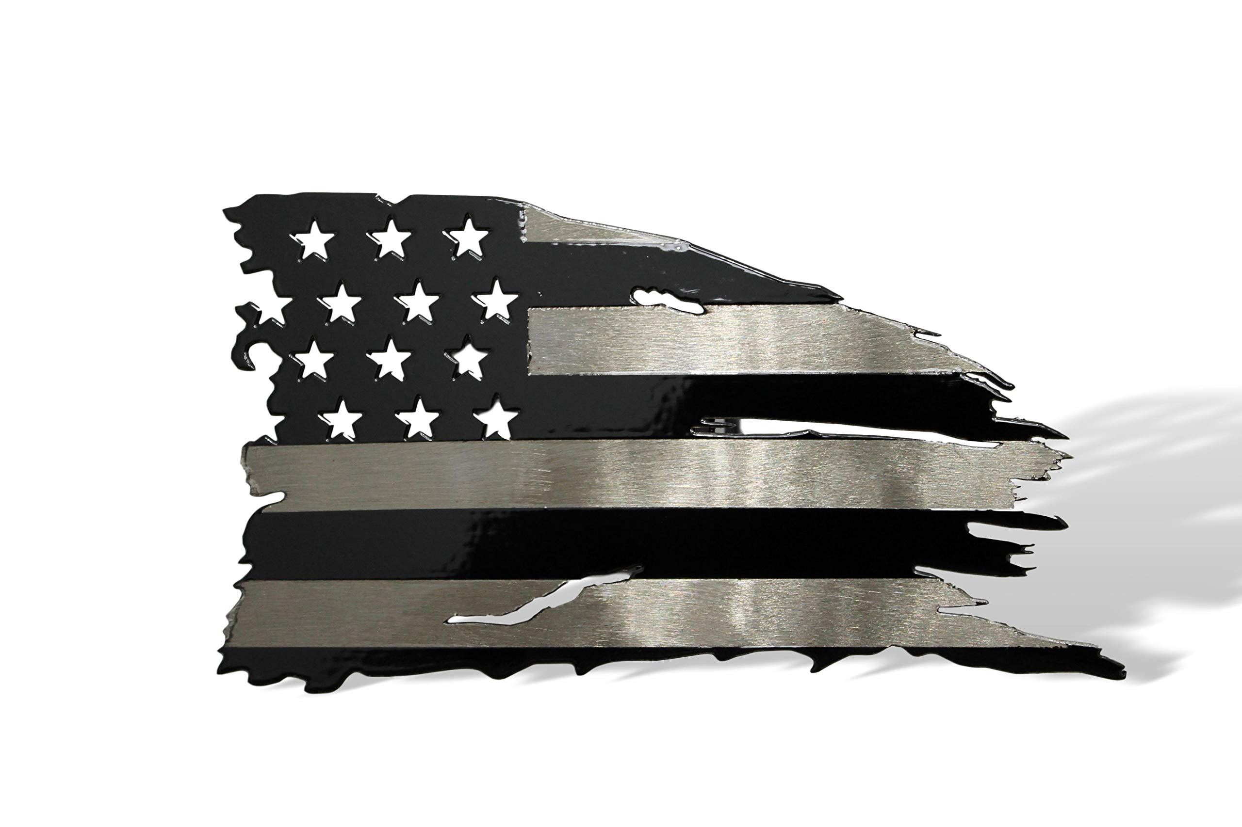 Fox MetalFab Powder Coated Steel Subdued American Flag Trailer Hitch Cover/Insert by Fox MetalFab