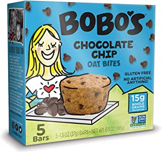 product image for Bobo's Oat Bites, Original with Chocolate Chips, 1.3 Ounce Bites (5ct Box), Gluten Free Whole Grain Snack