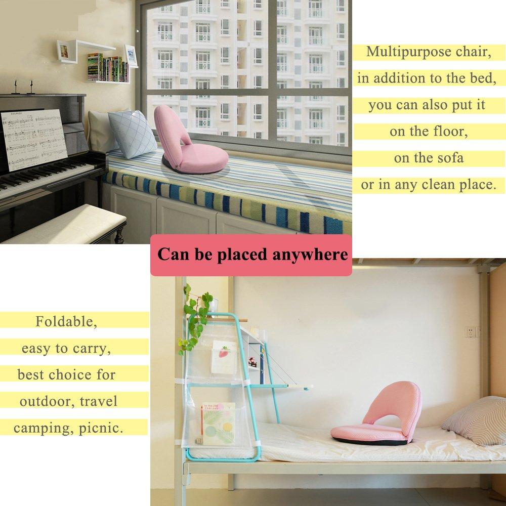 AnseeDirect Bodenstuhl Faul Sofa Faltbar mit 5 Positionen Verstellbarer Waschbare Waschbare Waschbare Weichschaum Bodenkissen Robuster mit Feste Unterstützung Rückenlehne für Kinder Meditation Frauen Stillen 2fead4