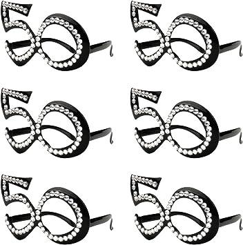 Amazon.com: Gafas de cumpleaños para aniversario, marco de ...