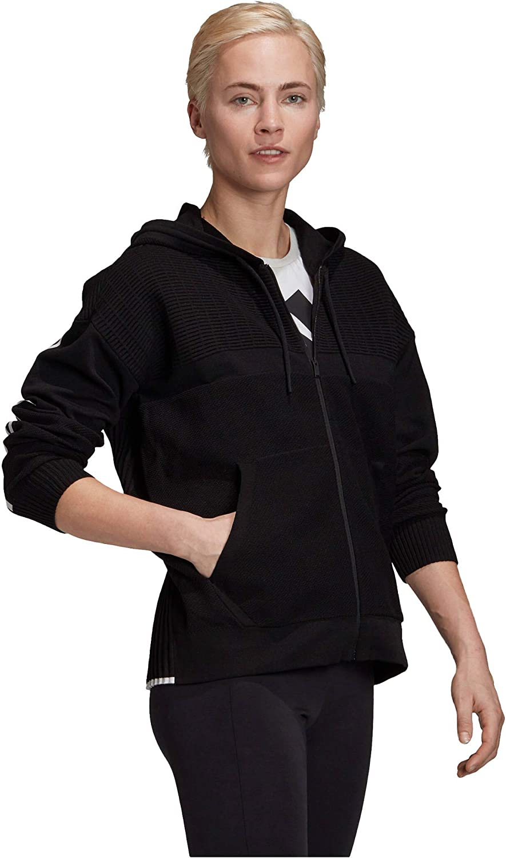 adidas Damen W Knit V Hoodie Sweatshirt black