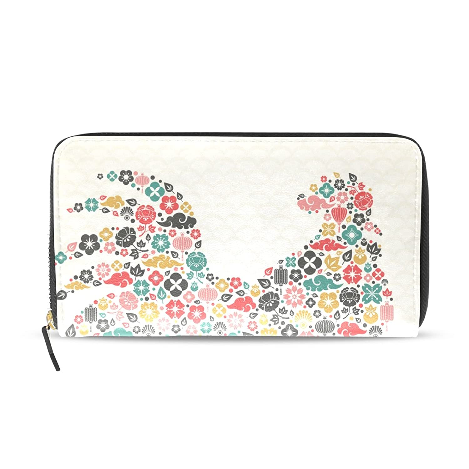 CCBHGY Women's Year Of The Rooster Clutch Leather Long Wallet Purse