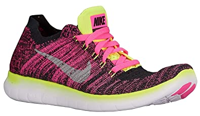 0e18b298ab9c8 Image Unavailable. Image not available for. Color  Nike Girls Free RN  Flyknit ...
