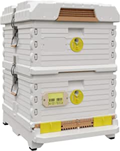Apimaye Ergo Plus Langstroth Size Insulated Bee Hive Set [No Frames Included] (White)
